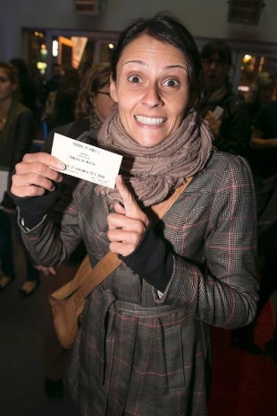 L'humoriste Korine Côté a assisté à la soirée de première du nouveau spectacle du duo humoristique Dominic et Martin.