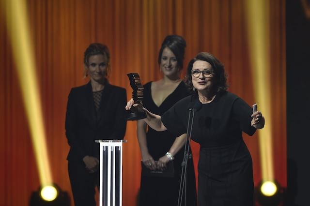 Marie-Thérèse Fortin, Edith Cochrane et Anne-Elisabeth Bossé lors des 29es prix Gémeaux.