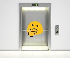 Modern elevator with opened doors, 3D rendering