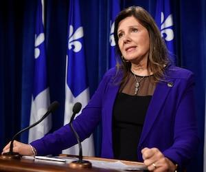 La Porte-parole de l'opposition officielle en matière de santé et d'accessibilité aux soins, la péquiste Diane Lamarre.