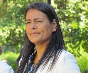 Michèle Audette, originaire de la communauté d'Uashat Mak Mani-Utenam, près de Sept-Îles, se réjouit qu'après toutes ces années, les femmes soient entendues.