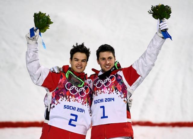 Alex Bilodeau et Mikael Kingsbury