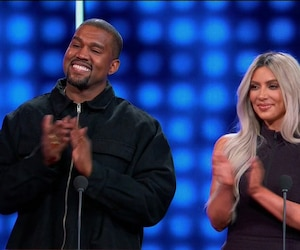 The West vs Kardashians during an appearance on ABC's 'Celebrity Family Feud.'