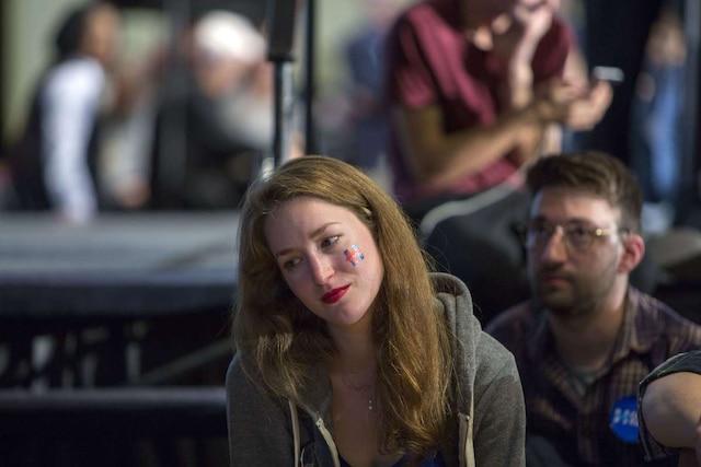 Supporters démocrates à Philadelphie en Pennsylvanie.   Jessica Kourkounis/Getty Images/AFP