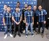 L'Impact a présenté lundi son groupe de nouveaux joueurs. Devant (de gauche à droite), Jeisson Vargas, Michael Petrasso, Raheem Edwards et Saphir Taïder. Derrière, dans le même ordre, Jukka Raitala, Zakaria Diallo et Clément Diop, qui est â côté de Rémi Garde.