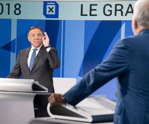 François Legault et Philippe Couillard lors du débat