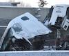 L'accident a causé un lourd ralentissement dans le secteur.