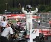 Valtteri Bottas célèbre sa victoire au Grand Prix d'Autriche après avoir été le meneur de la course d'un bout à l'autre.