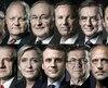 Les onze candidats au premier tour de l'élection présidentielle française.