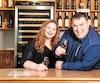 Marco Corbin, propriétaire du vignoble La Halte des pèlerins, et sa conjointe Geneviève Chabot.