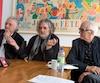 Gilbert Rozon, François Girard et Roger Frappier lors de l'annonce de la production du film <i>Hochelaga, terre des âmes</i>.