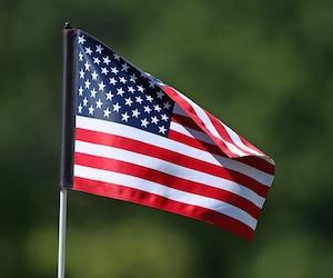 Bloc drapeau américain États-Unis USA