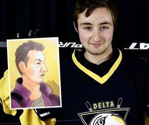 Francis Jutras (sur le dessin) a été accusé du meurtre de François-Xavier Théberge (ci-contre). L'association du hockey mineur dont était membre Théberge a offert ses condoléances à sa famille et a souligné qu'il a «marqué de son empreinte le hockey et le soccer».