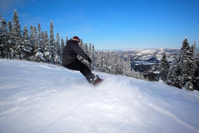 La station de ski du Mont-Édouard, la 6e plus haute montagne au Québec et la 5e en importance pour sa dénivellation (450 mètres).