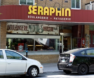 La boulangerie Séraphin est située sur le boulevard Saint-Laurent.