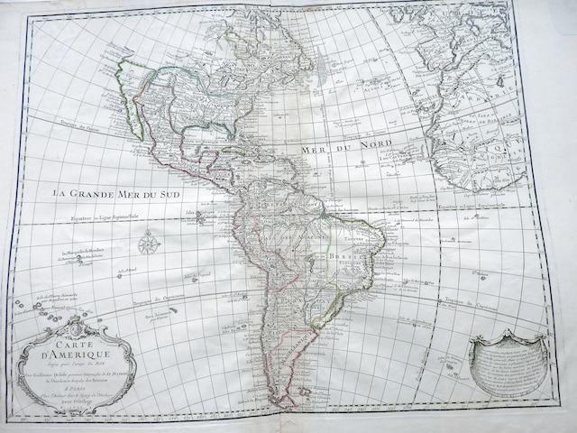 Carte des Amériques, datée de 1733.