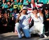 Lewis Hamilton et Valtteri Bottas avaient toutes les raisons de sourire à belles dents au terme du GP des États-Unis, dimanche.