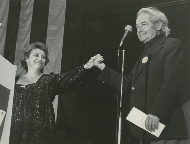 Lise Payette et Félix Leclerc.