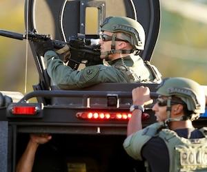Une autre fusillade a éclaté avec les forces de l'ordre, quelques heures après la tragédie.