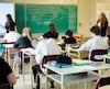 La commission scolaire Rivière-du-Nord fait partie de celles dont la performance s'est le plus améliorée au cours des cinq dernières années. Sur les photos, des élèves et enseignants de l'école secondaire Émilien-Frenette, à Saint-Jérôme dans les Laurentides.