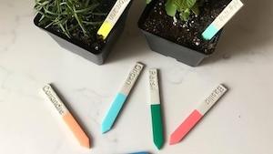 Des marqueurs de fines herbes très «Pinterest»