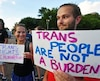Transgender ban protest in Times Square