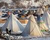 Le camp des manifestants, le 3 décembre 2016.