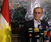 Najim al-Din Karim, gouverneur de la province de Kirkouk, en Irak.