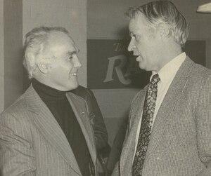 Henri Richard et Gordie Howe, le 9 février 1981.