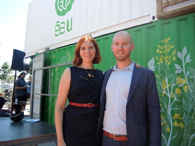 Émilie Nollet et Olivier Demers-Dubé sont les cofondateurs du projet ÉAU, une ferme urbaine aquaponique.