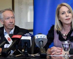 Président du C.A de la Chambre de commerce et d'industrie de Québec, Jacques Topping et la présidente et chef de la direction, Julie Bédard