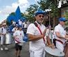 Des ensembles musicaux ont assuré l'animation lors du défilé.