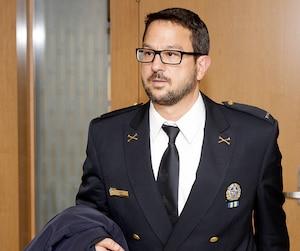 Costa Labos, le 23 mai dernier, témoignant devant la commission Chamberland.