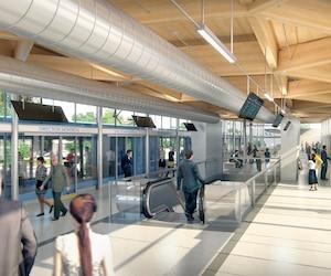 La ligne de train du REM reliant le centre-ville de Montréal et la Rive-Sud devrait être en service à l'été2021. Les travaux devraient commencer en avril prochain.