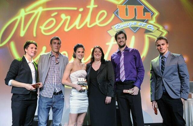 61e Gala du Mérite sportif Rouge et Or de l'Université Laval mardi le 10 Avril 2012 a Quebec. SIMON CLARK/JOURNAL DE QUEBEC/AGENCE QMI