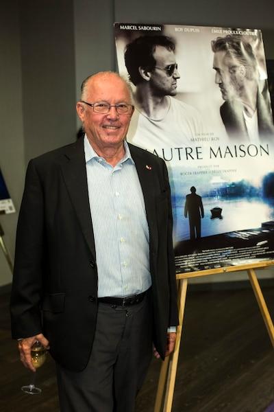 Bernard Landry au tapis rouge du film L'autre Maison à l'Hôtel Hyatt dans le cadre du Festival du film de Montréal.