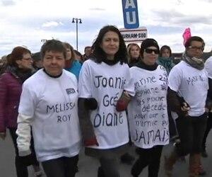 Près de 3000 personnes étaient attendues le 11 octobre 2015 à partir de 13 h dans le cadre d'une manifestation réclamant la sécurisation du tronçon ferroviaire qui traverse la ville de Lac-Mégantic. CAPTURE D'ÉCRAN TVA NOUVELLES/AGENCE QMI