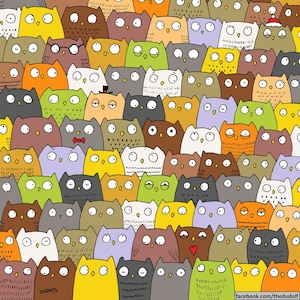 Image principale de l'article Pouvez-vous repérer le chat parmi les hiboux?