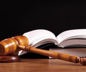 Bloc situation Justice (livre et marteau)