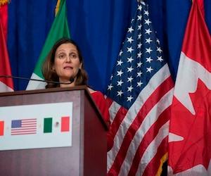 La ministre des Affaires étrangères, Chrystia Freeland.