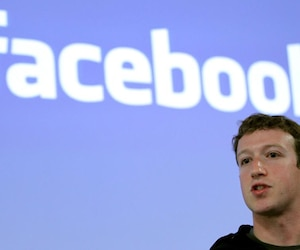 File photo of Facebook CEO Mark Zuckerberg speaking during a news conference at the Facebook headquarters in Palo Alto