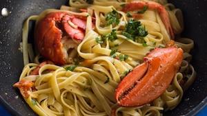 Pâtes au homard et aux huîtres