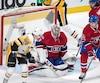 Le but de Jake Guentzel (59) a donné une avance de 3 à 0 aux Penguins, en deuxième période. photo ben pelosse