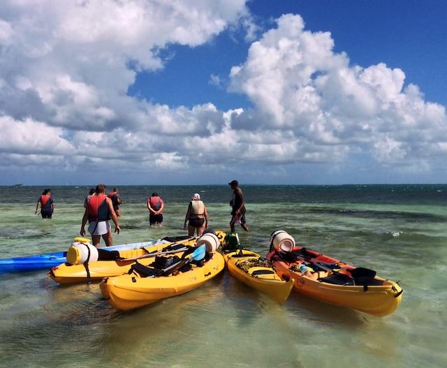 Au cœur du lagon du Grand-cul-de-sac marin,  à proximité de la barrière de corail, le plus long récif corallien des Petites Antilles.