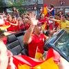 Les Espagnols ont fait la fête après cette victoire aux dépens des Italiens à l'Euro 2012. Les célébrations se sont transportées tout au long du boulevard Saint-Laurent.