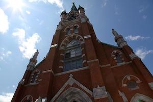 L'Église Ste-Marie aucoeur du quartier Little Canada de Manchester.