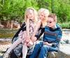 Isabelle Poitras-Morneau avec sa fille de 4 ans, Allycia Tremblay, et son fils de 13 ans, Gabriel Morneau.