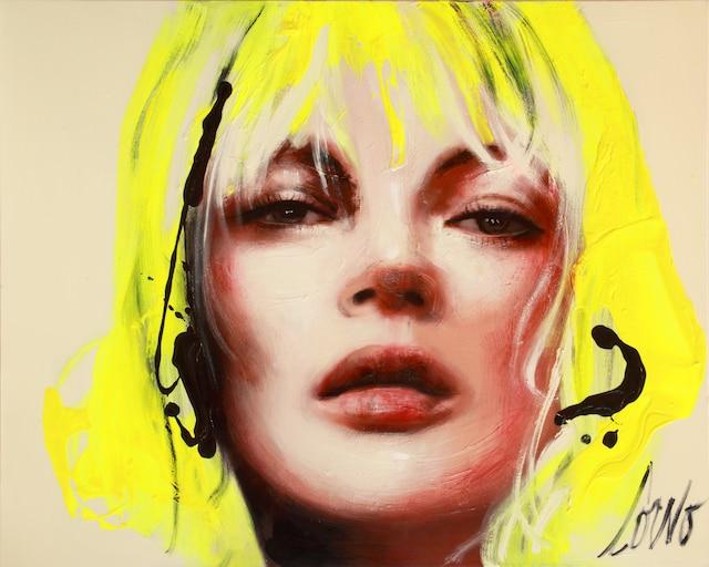 <i>Kate Moss</i></br>  (Série <i>Creative Chaos</i>)</br> Corno 2014</br> 60' x48'