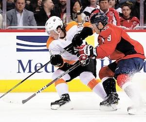 «La LNH, c'est tellement différent du junior. C'est beaucoup plus rapide, les joueurs sont plus gros, plus forts», dit Nolan Patrick de sa première saison avec les Flyers de Philadelphie.