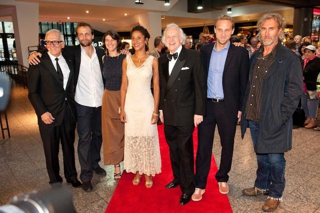 L'acteur Marcel Sabourin et le producteur Roger Frappier.